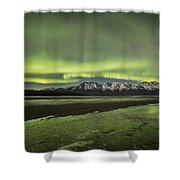 Green Ice Shower Curtain