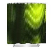 Green Illusions Shower Curtain