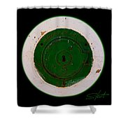 Green Image Shower Curtain