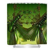 Green Insects  Shower Curtain