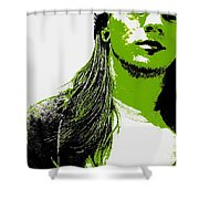 Green Is In Shower Curtain