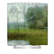 Green Landscape Shower Curtain