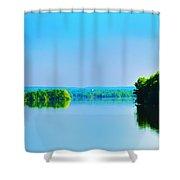 Green Lane Reservoir Shower Curtain
