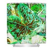 Green Leafmania 1 Shower Curtain
