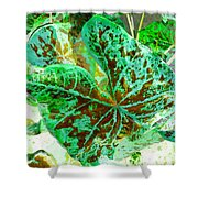 Green Leafmania 2 Shower Curtain