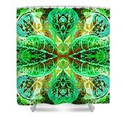 Green Leafmania 3 Shower Curtain