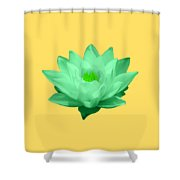 Green Lily Blossom Shower Curtain
