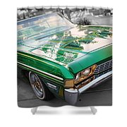 Green Low Rider Shower Curtain