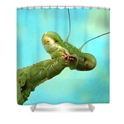 Green Martian Shower Curtain