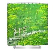 Green Meadows Shower Curtain