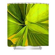 Green Mosaic Shower Curtain
