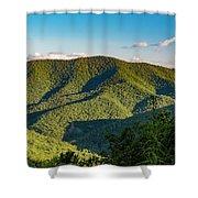 Green Mountainside Shower Curtain