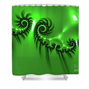 Green Mystery Shower Curtain