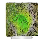 Green On Center Stage Shower Curtain