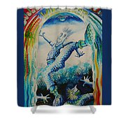 Green Onions Boogie Shower Curtain