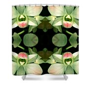 Green Orchid Meeting Shower Curtain