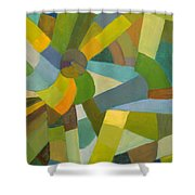 Green Pallette Shower Curtain