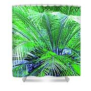 Green Palm Shower Curtain