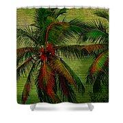 Green Palms Shower Curtain