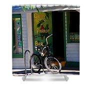 Green Parrot Bar Key West Shower Curtain