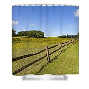 Green Pasture Shower Curtain