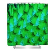 Green Pattern Abstract Shower Curtain