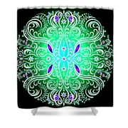 Green Piece Mandala Shower Curtain