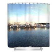 Green Pond Harbor Shower Curtain
