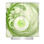 Green Power Shower Curtain