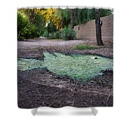Green Puddle Shower Curtain