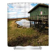Green Pump House Shower Curtain
