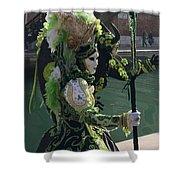 Green Queen Shower Curtain