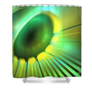Green Rays Shower Curtain