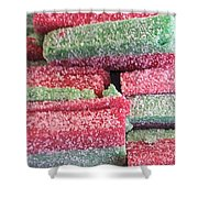 Green Red Sugary Sweet Shower Curtain