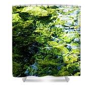Green Reflection Shower Curtain