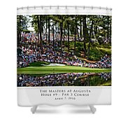 Green Reflections Par 3 Hole 9 Shower Curtain