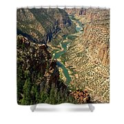Green River Carving Canyon Shower Curtain