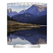 Green River Lake Fly-fisherman Shower Curtain