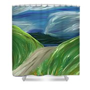 Green Road Shower Curtain