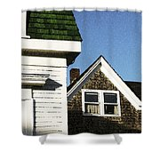 Green Roof Stonington Deer Isle Maine Coast Shower Curtain