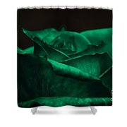 Green Rose Shower Curtain