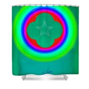 Green See Shower Curtain