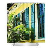 Green Shutters Shower Curtain by Debbi Granruth