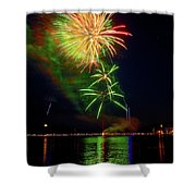 Green Sky Shower Curtain