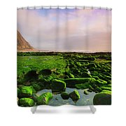 Green Soul Of The Cliff Shower Curtain