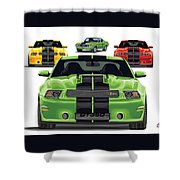 Green Stang Shower Curtain