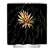 Green Streaks Shower Curtain by Phill Doherty