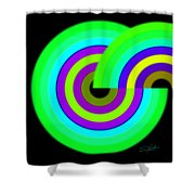 Green Targets Shower Curtain