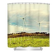 Green Tasmania Shower Curtain