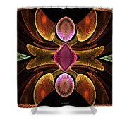 Green Teardrops Shower Curtain